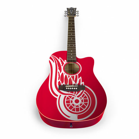 Detroit Red Wings Acoustic Guitar