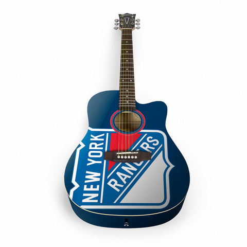New York Rangers Acoustic Guitar