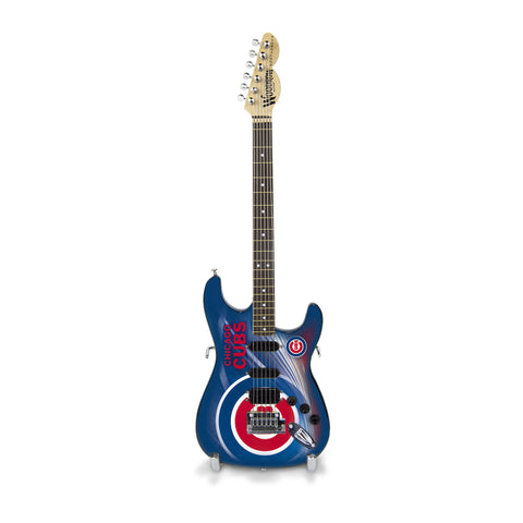 Chicago Cubs Miniature Northender Guitar - The Sports Vault
