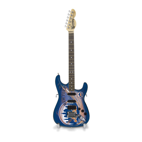 New York Mets Miniature Northender Guitar - The Sports Vault