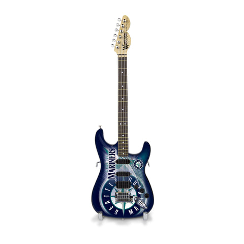 Seattle Mariners Miniature Northender Guitar - The Sports Vault