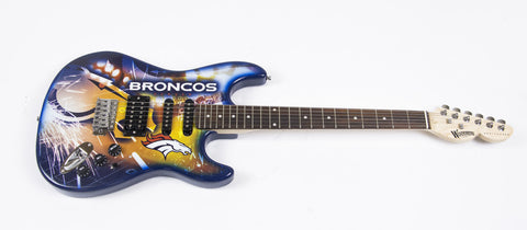 Denver Broncos Northender Guitar - The Sports Vault