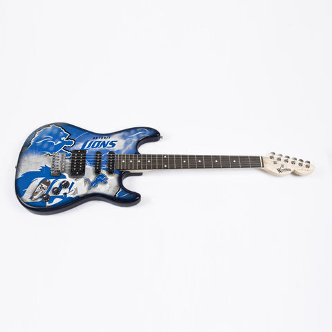 Detroit Lions Northender Guitar - The Sports Vault