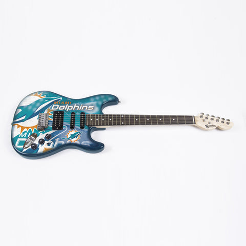 Miami Dolphins Northender Guitar - The Sports Vault