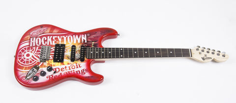 Detroit Red Wings Northender Guitar - The Sports Vault