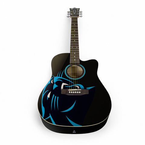 Carolina Panthers Acoustic Guitar - The Sports Vault