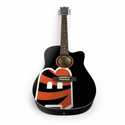 Cincinnati Bengals Acoustic Guitar - The Sports Vault