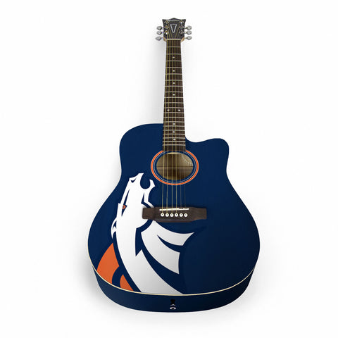 Denver Broncos Acoustic Guitar - The Sports Vault