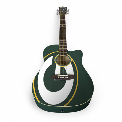 Green Bay Packers Acoustic Guitar - The Sports Vault