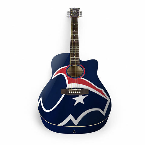 Houston Texans Acoustic Guitar - The Sports Vault