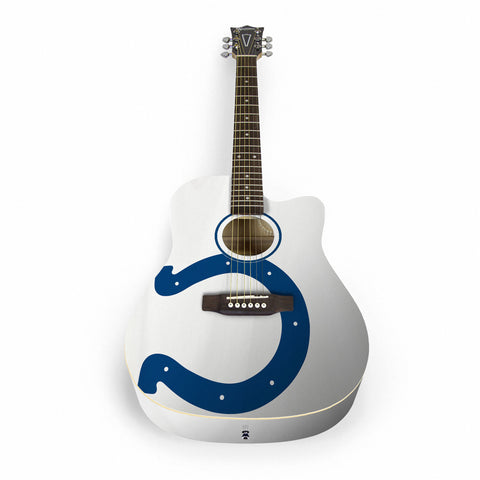 Indianapolis Colts Acoustic Guitar - The Sports Vault