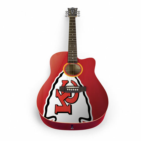 Kansas City Chiefs Acoustic Guitar - The Sports Vault