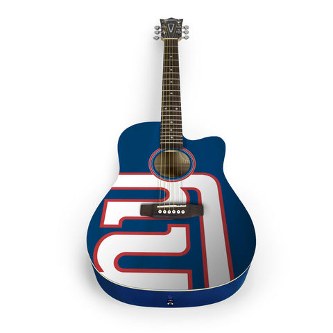 New York Giants Acoustic Guitar - The Sports Vault