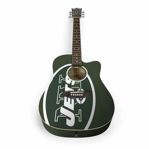 New York Jets Acoustic Guitar - The Sports Vault