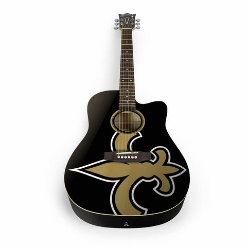 New Orleans Saints Acoustic Guitar - The Sports Vault