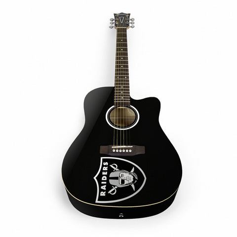 Oakland Raiders Acoustic Guitar - The Sports Vault