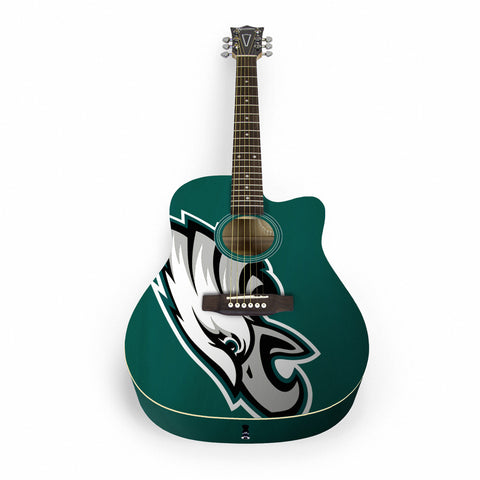 Philadelphia Eagles Acoustic Guitar - The Sports Vault