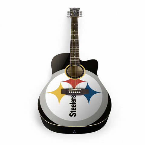 Pittsburgh Steelers Acoustic Guitar - The Sports Vault