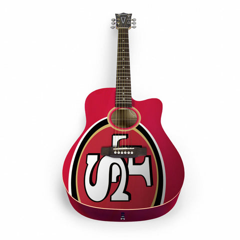 San Francisco 49ers Acoustic Guitar - The Sports Vault
