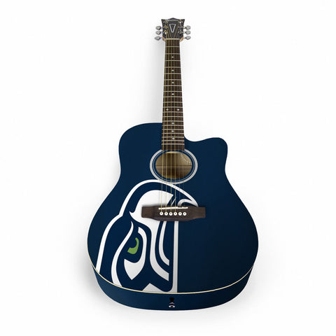 Seattle Seahawks Acoustic Guitar - The Sports Vault