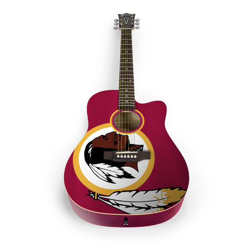 Washington Redskins Acoustic Guitar - The Sports Vault