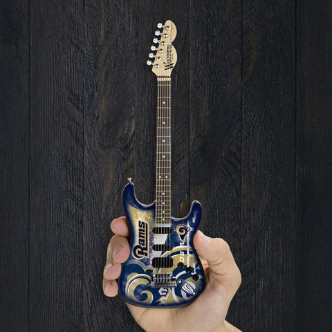 LA Rams Miniature Northender Guitar - The Sports Vault