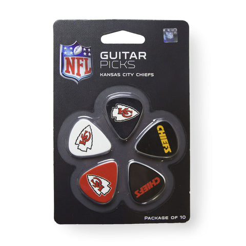 Kansas City Chiefs Guitar Picks (10 pack) - The Sports Vault