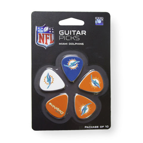 Miami Dolphins Guitar Picks (10 pack) - The Sports Vault