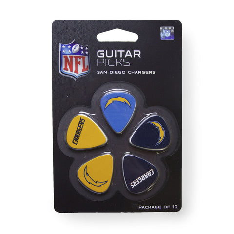 San Diego Chargers Guitar Picks (10 pack) - The Sports Vault