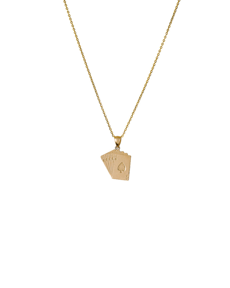 Cards Necklace 14k Gold - DAYFOURTEEN