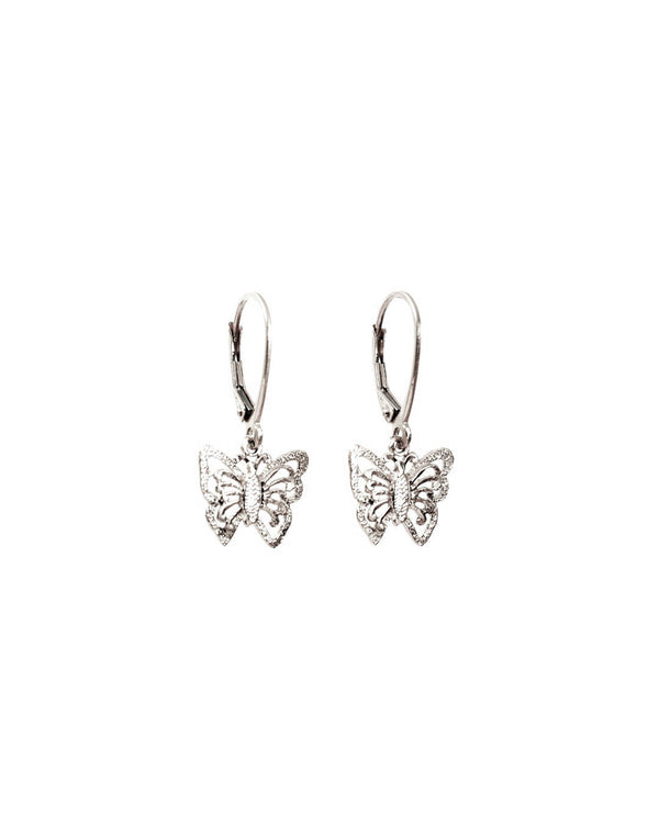 Butterfly Earrings 925 Sterling Silver - DAYFOURTEEN