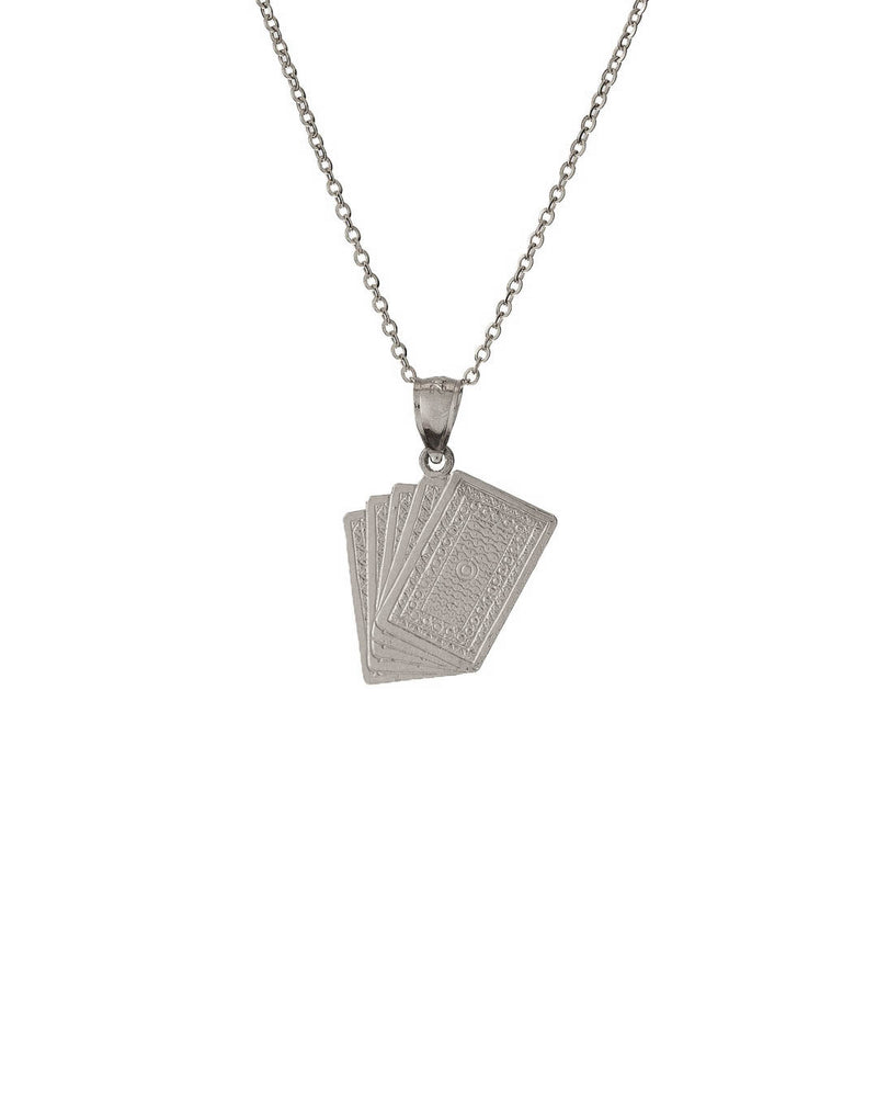 Cards Necklace 925 Sterling Silver - DAYFOURTEEN