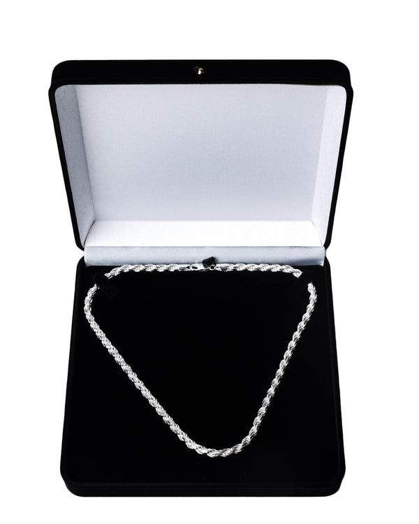 20'' Rope Chain 5.7mm Solid 925 Sterling Silver