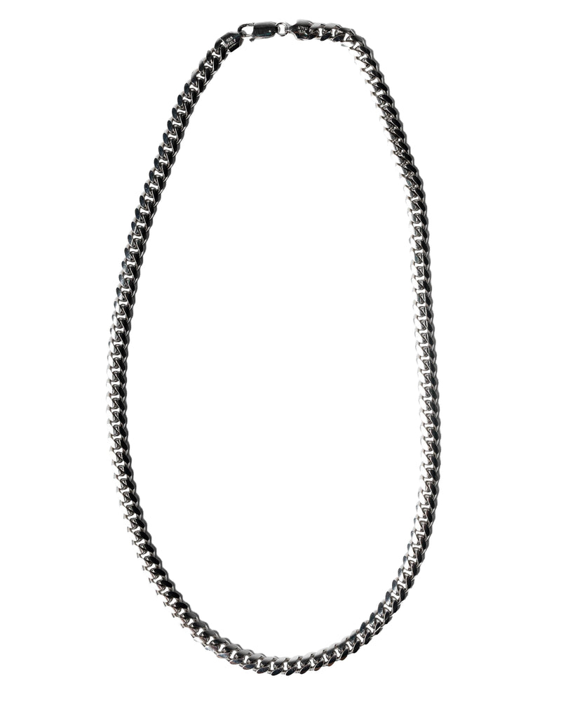 20'' Miami Curb Chain 6mm Solid 925 Sterling Silver