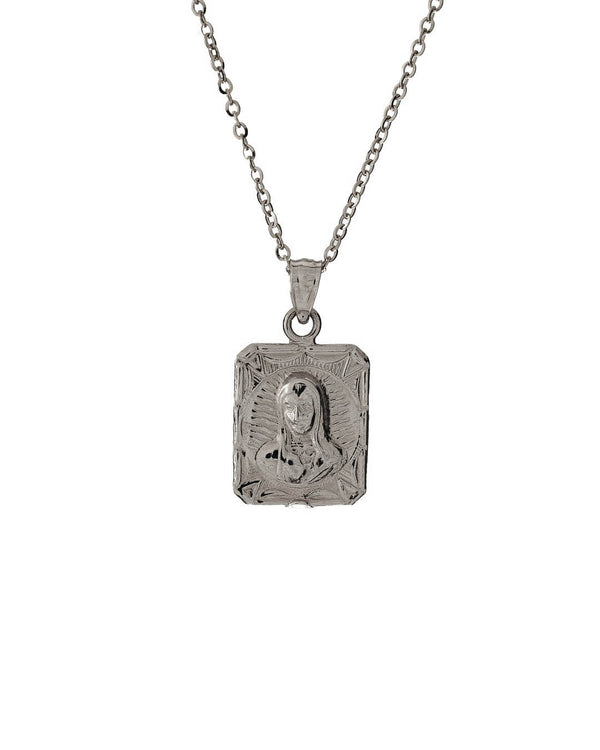 Mary & Jesus Necklace 925 Sterling Silver - DAYFOURTEEN