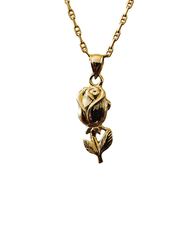 Rose Necklace 14k gold - DAYFOURTEEN