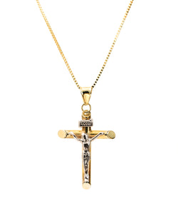 Jesus Necklace 14k Gold & 925 Sterling Silver - DAYFOURTEEN