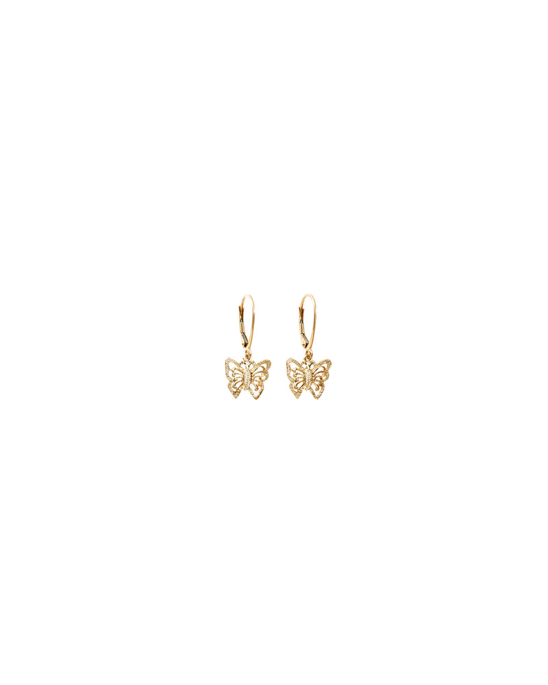 Butterfly Earrings 14k Gold - DAYFOURTEEN