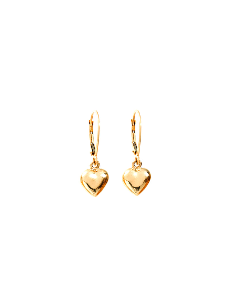 Heart Earrings 14k Gold - DAYFOURTEEN