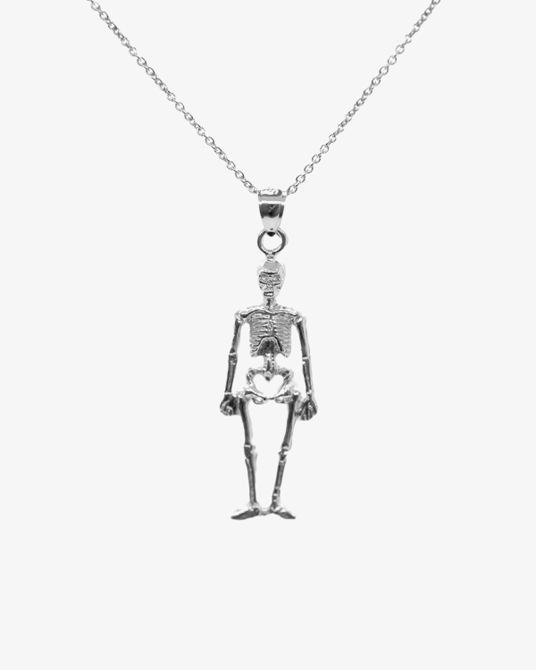 Skeleton Necklace Solid 925 Sterling Silver