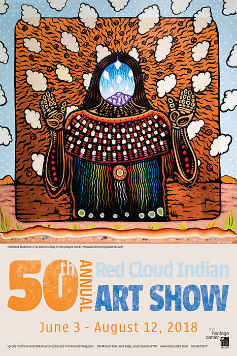 2018 Red Cloud Indian Art Show Poster
