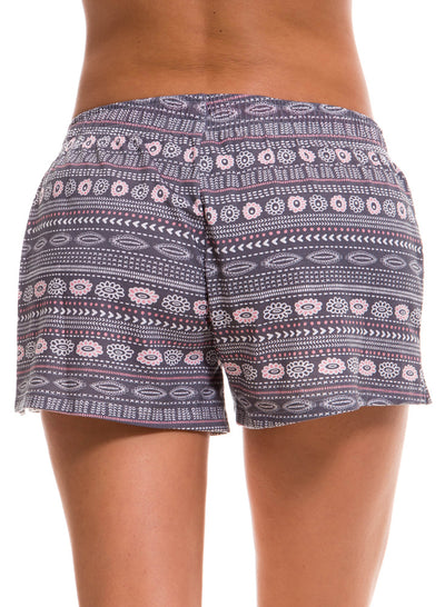 Short Pijama Estampado Gris