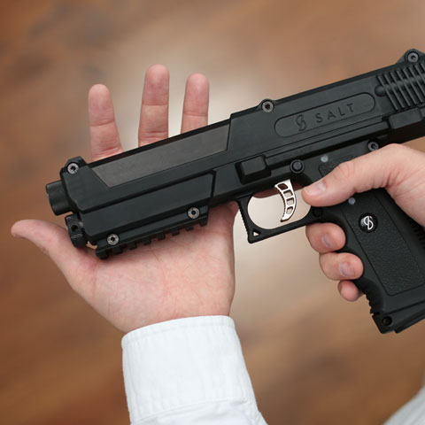 self defense gadget the SALT pepper spray gun
