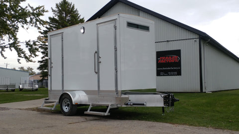 Vanguard II - Commercial Grade Double Unit Portable Restroom
