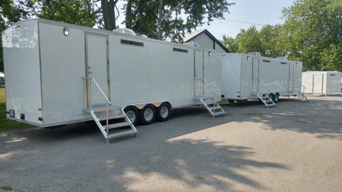 High Volume/Capacity Portable Restrooms