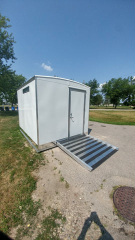 Wheelchair Accessible Skid - Portable Restroom