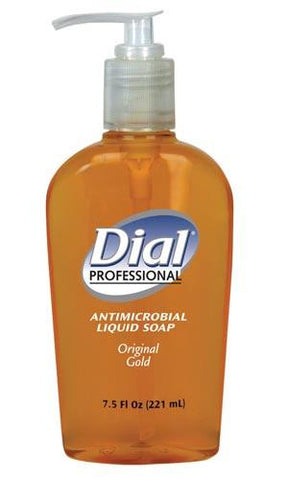 Dial Corporation Soap, Antimicrobial, Pump, 7.5 oz , Gold, #84014