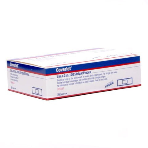 Coverlet Adhesive Bandages, BSN Medical SKU 00231, 1in x 3in - AMDH