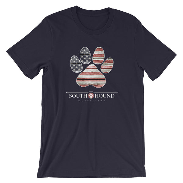 Patriotic Paw Print Soft-Knit Tee