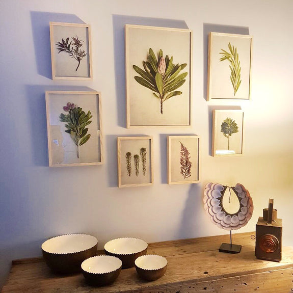 Fynbos Garden Gallery wall - 7x Medium Art prints